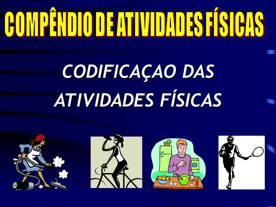 CODIFICAÇAO DAS ATIVIDADES FÍSICAS