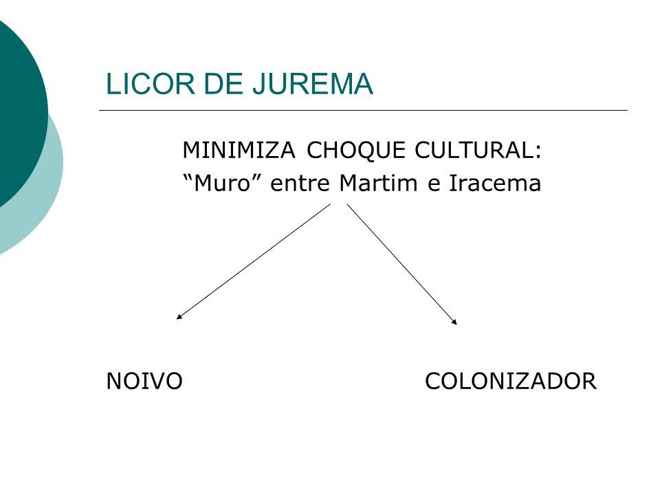 LICOR DE JUREMA MINIMIZA CHOQUE CULTURAL: Muro entre Martim e Iracema NOIVO COLONIZADOR