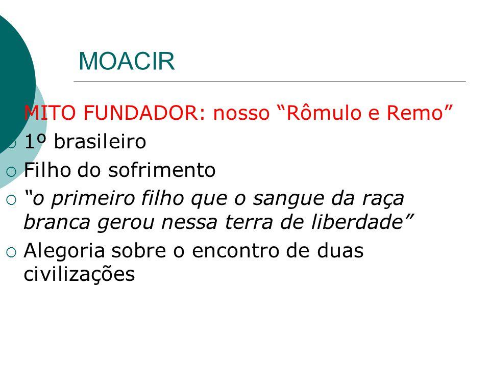 MOACIR MITO FUNDADOR: nosso Rômulo e Remo 1º brasileiro Filho do sofrimento o primeiro filho que o sangue da raça branca gerou nessa terra de liberdad