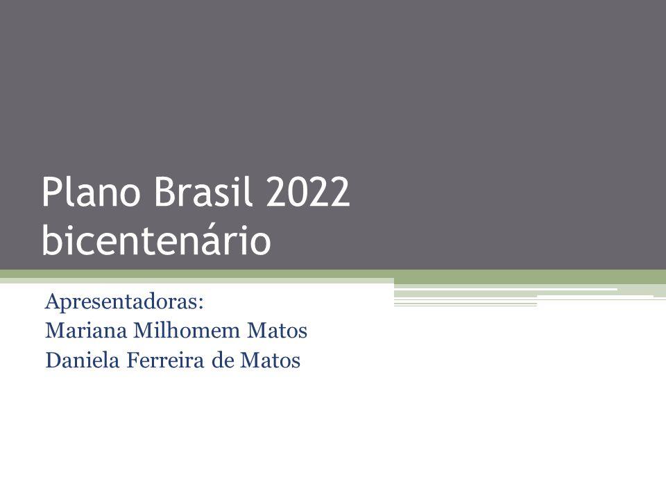 Plano Brasil 2022 bicentenário Apresentadoras: Mariana Milhomem Matos Daniela Ferreira de Matos