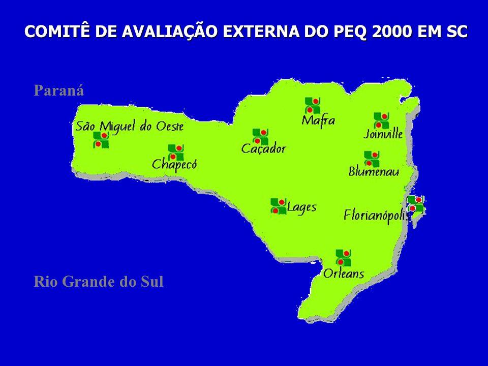 Paraná Rio Grande do Sul COMITÊ DE AVALIAÇÃO EXTERNA DO PEQ 2000 EM SC