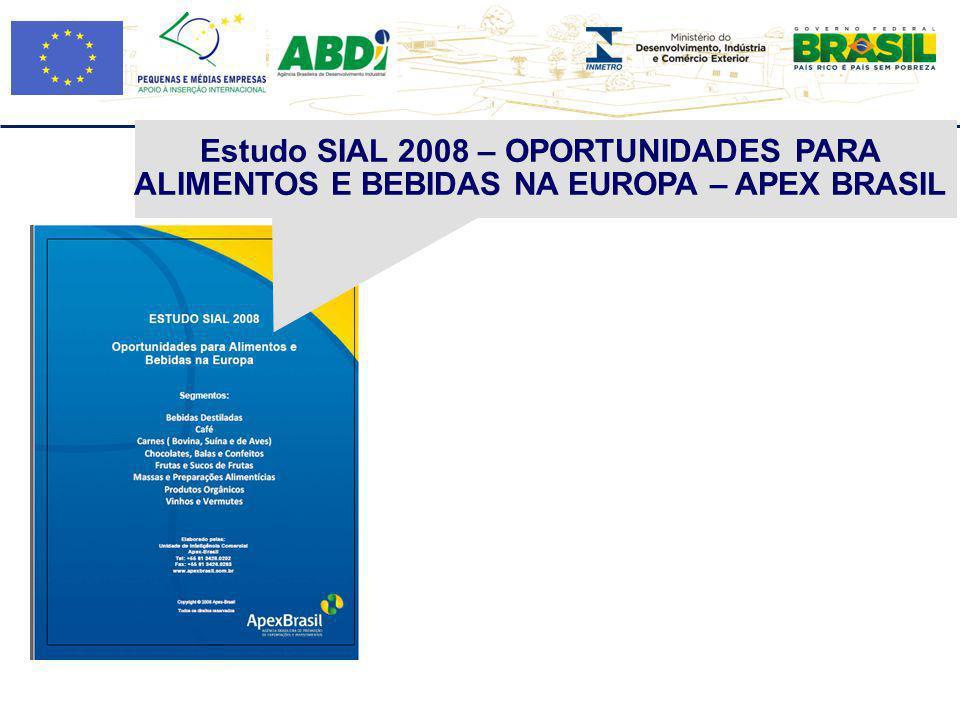 Estudo SIAL 2008 – OPORTUNIDADES PARA ALIMENTOS E BEBIDAS NA EUROPA – APEX BRASIL
