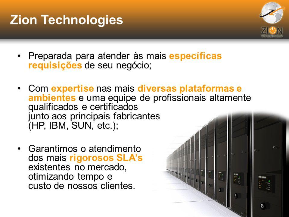 Zion Technologies A Zion Technologies é uma empresa integradora de soluções em tecnologia, atuante em oito países da América Latina: Antilhas Holandes