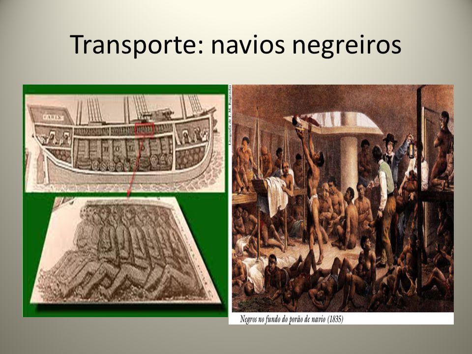 Transporte: navios negreiros