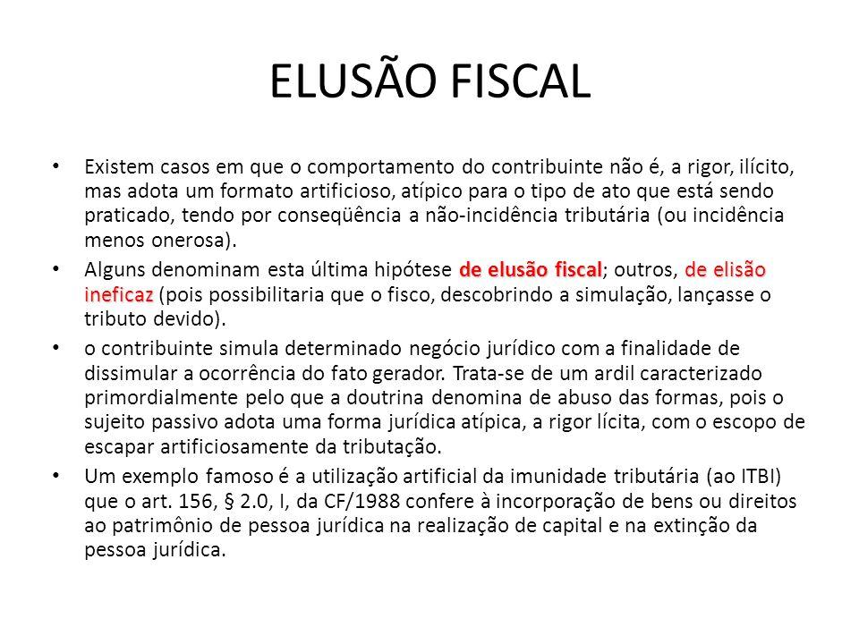 NORMA GERAL DE ANTIELISÃO FISCAL A denominada norma geral antielisão fiscal foi prevista pela Lei Complementar 104/2001, que inseriu no art.