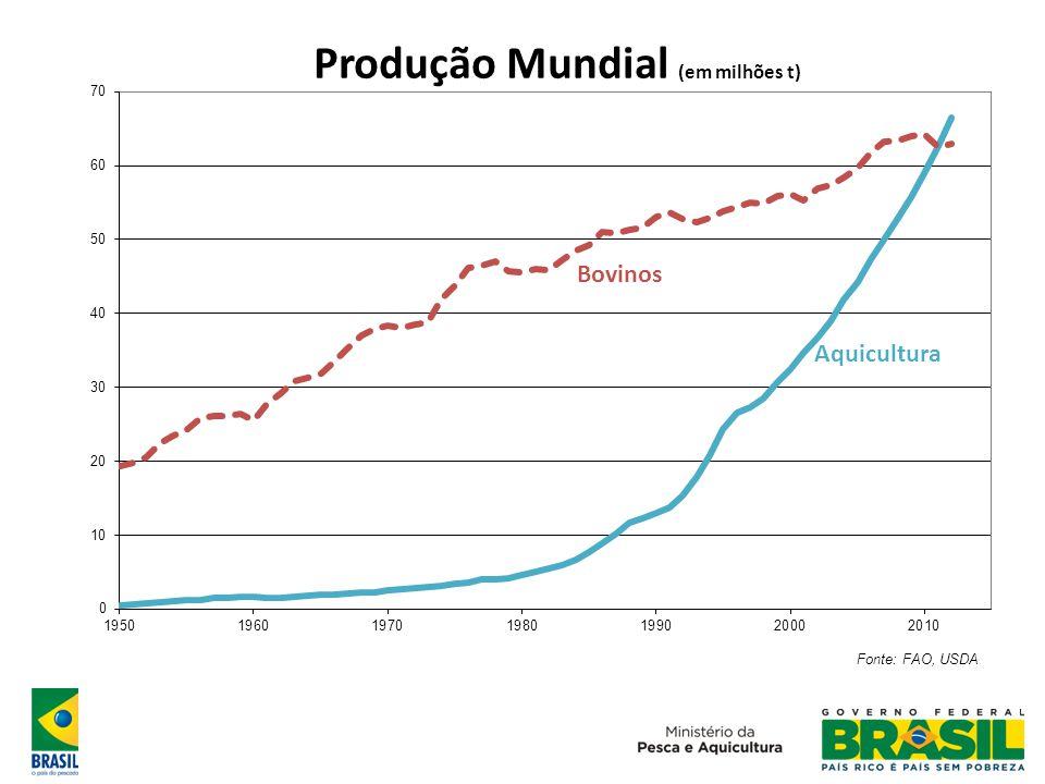 Cenário Futuro Em 2025, a FAO estima a necessidade de acréscimo na produção mundial de 50 milhões de toneladas por ano.