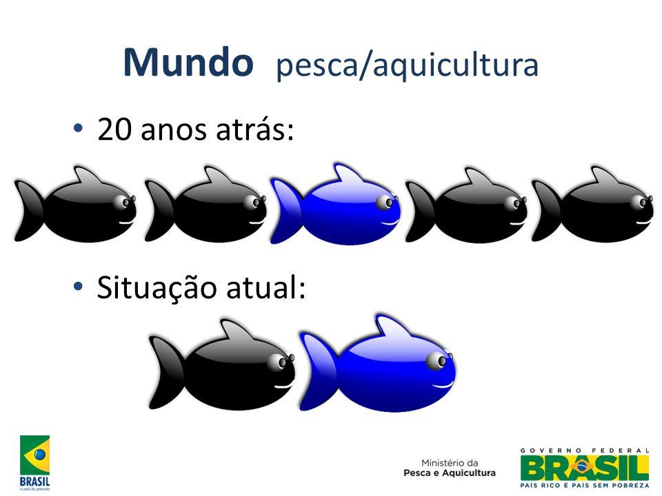 Mundo pesca/aquicultura 20 anos atrás: Situação atual: