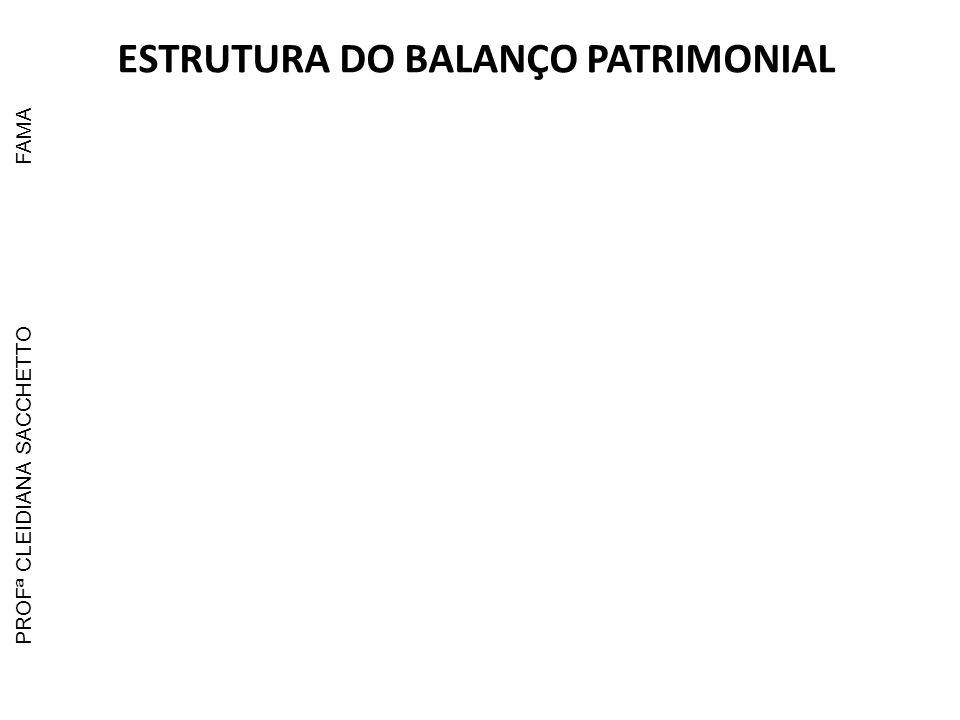 ESTRUTURA DO BALANÇO PATRIMONIAL PROFª CLEIDIANA SACCHETTOFAMA