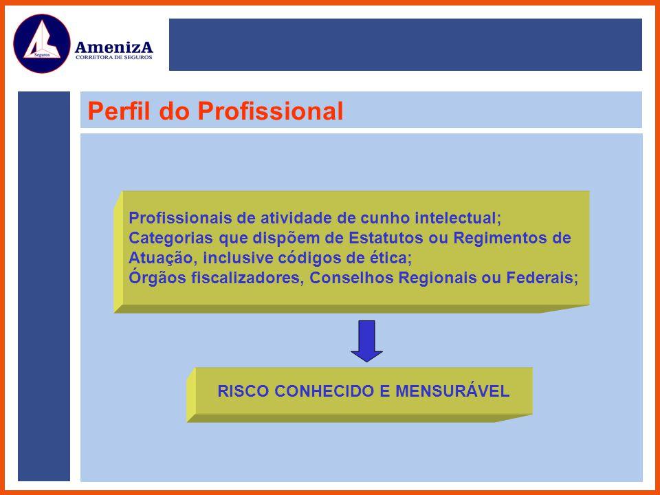 Perfil do Profissional Profissionais de atividade de cunho intelectual; Categorias que dispõem de Estatutos ou Regimentos de Atuação, inclusive código