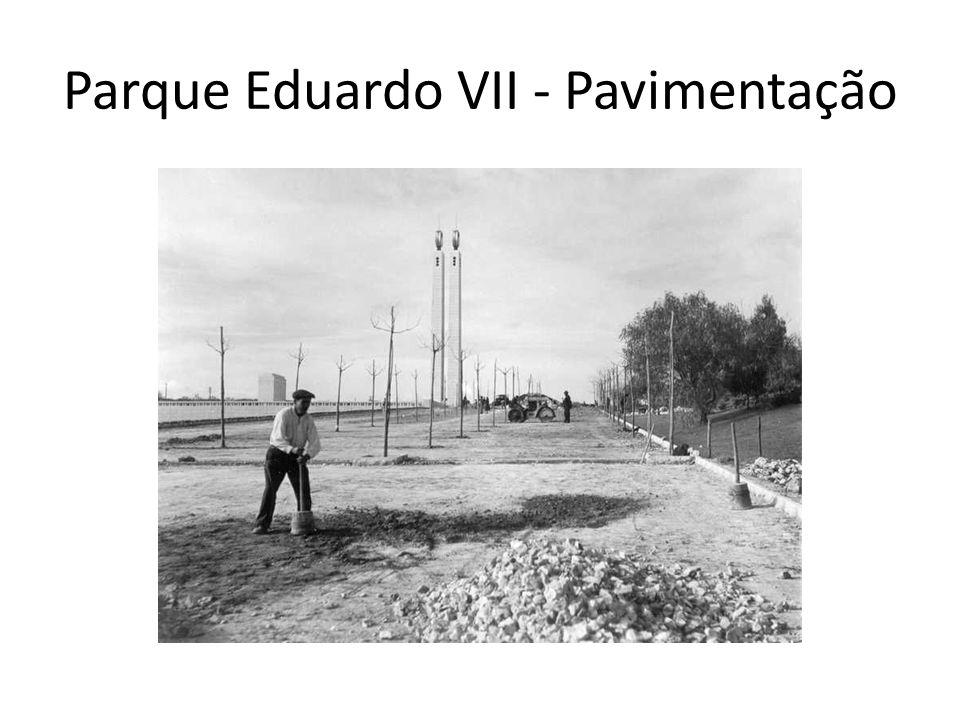 Parque Eduardo VII - Pavimentação