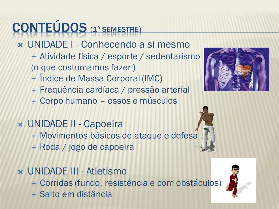 Fundamentos (movimentos básicos) de: UNIDADE IV - Volei UNIDADE V - Handebol OU Basquete UNIDADE VI - Futsal
