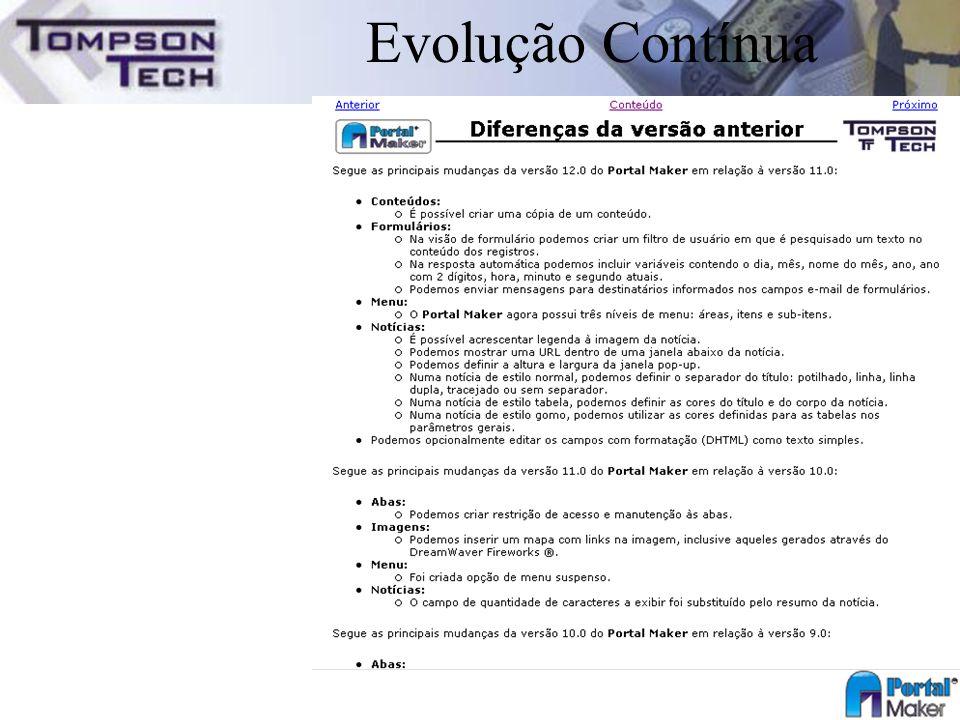 Evolução Contínua