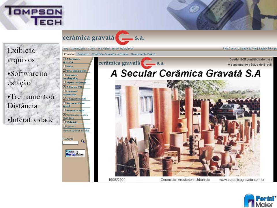 Exibição arquivos: Software na estação Treinamento à Distância Interatividade
