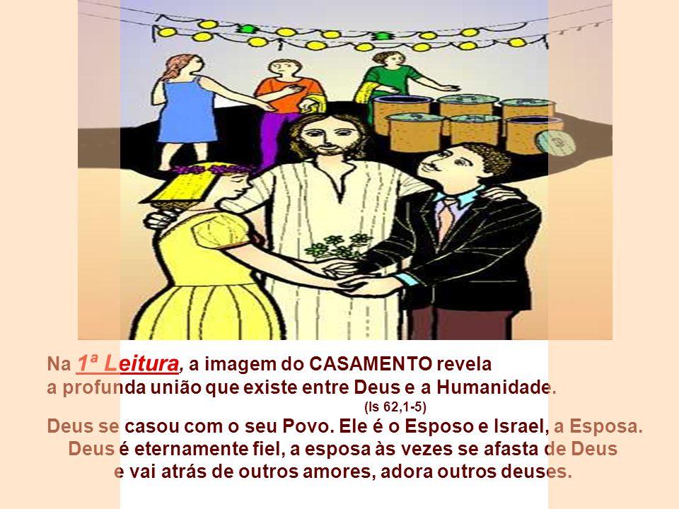 Após as festas natalinas, inicia o Tempo Comum, em que revivemos os principais Mistérios da Salvação. Com a imagem do CASAMENTO, a liturgia apresenta