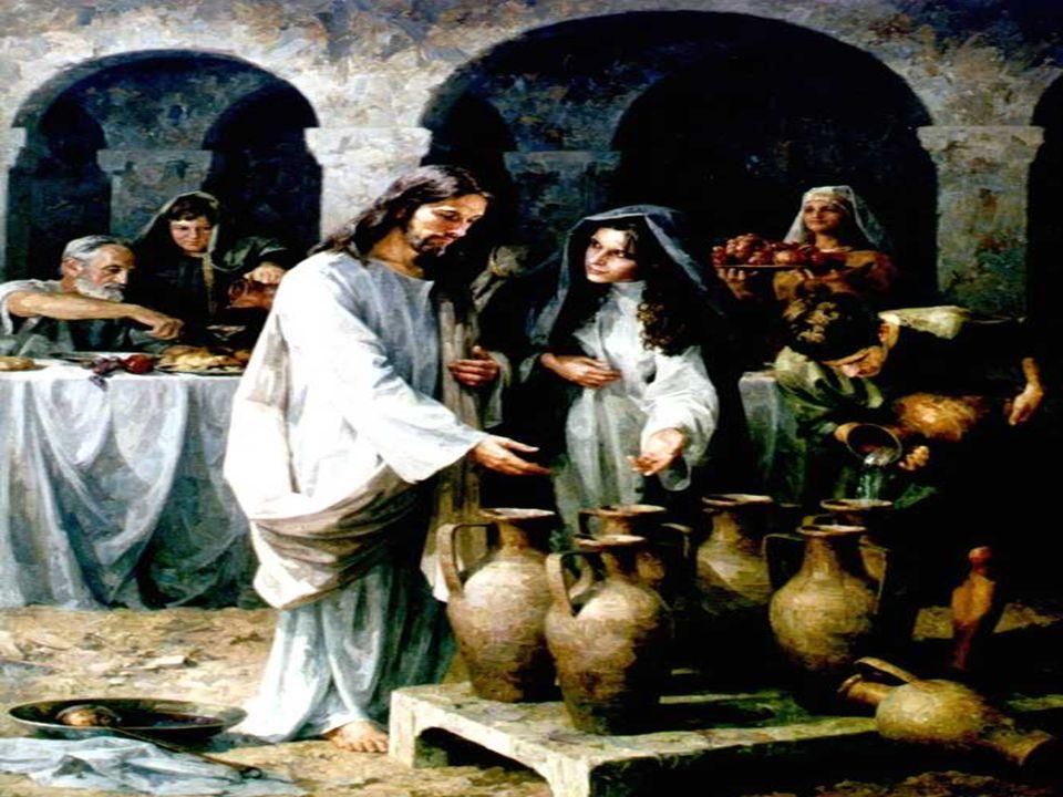O Evangelho fala das Bodas de Caná.