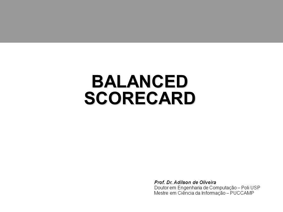 Balanced Scorecard PAINEL DE CONTROLE Esclarecer a Visão e a Estratégia; Comunicar e associar objetivos e medidas estratégicas; Melhorar o feedback e o aprendizado estratégico.