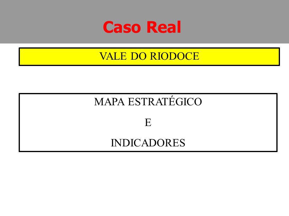 MAPA ESTRATÉGICO E INDICADORES Caso Real VALE DO RIODOCE