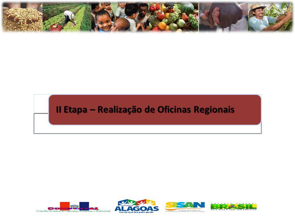 II Etapa – Realização de Oficinas Regionais