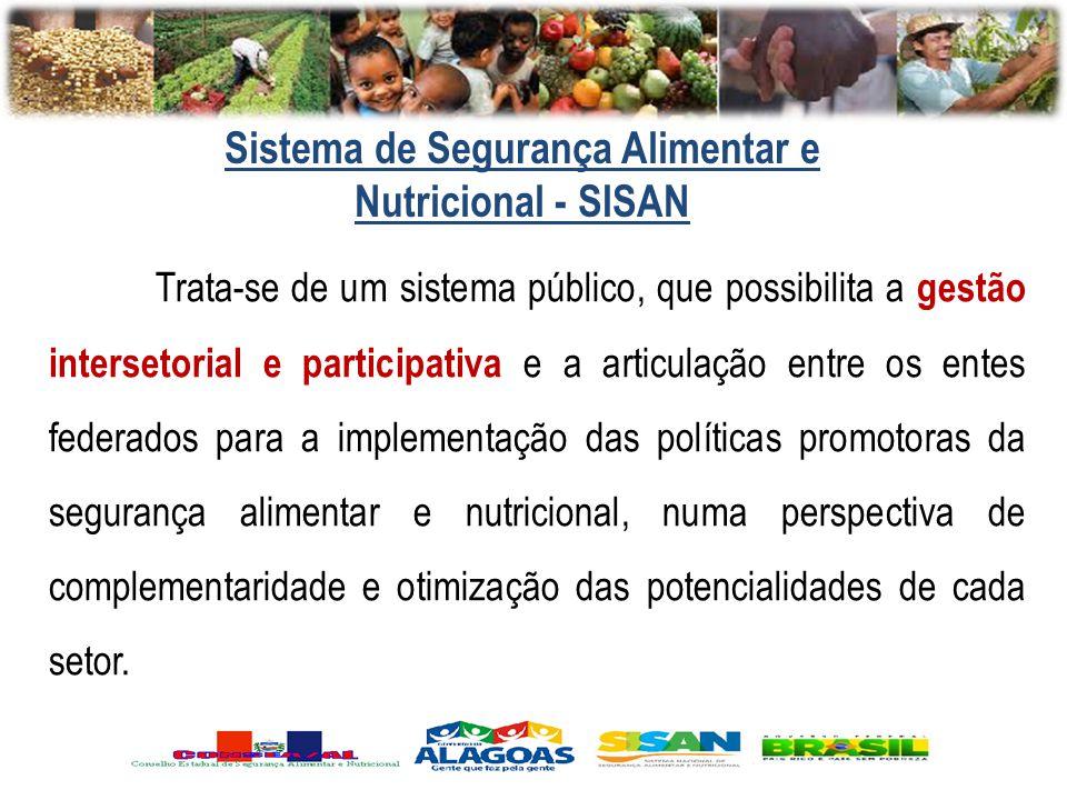 Trata-se de um sistema público, que possibilita a gestão intersetorial e participativa e a articulação entre os entes federados para a implementação d