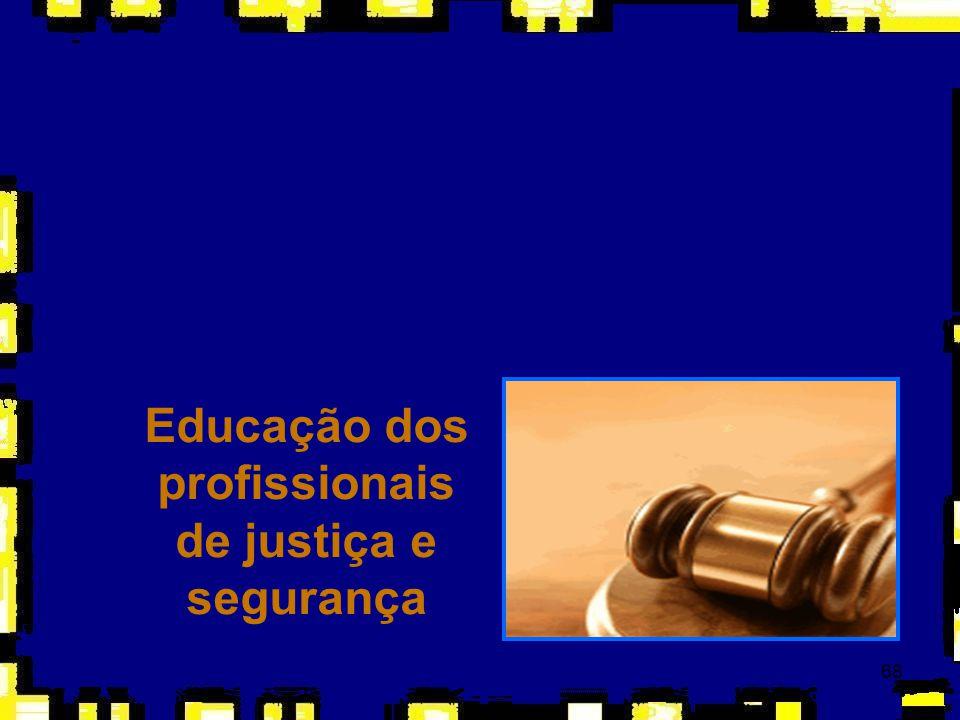 68 Educação dos profissionais de justiça e segurança