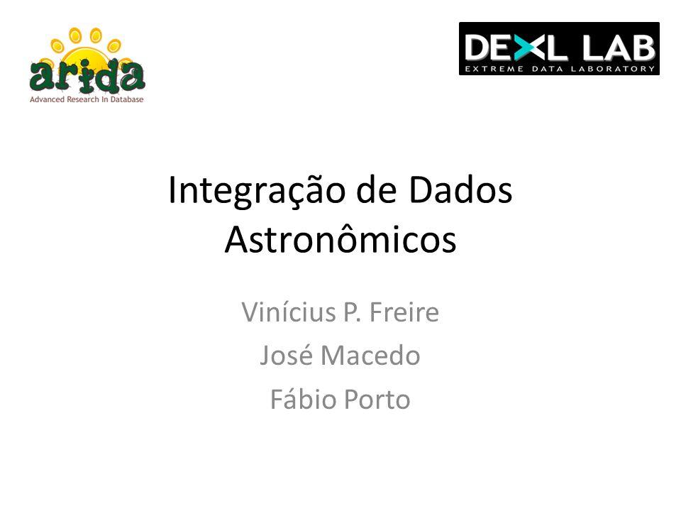 Integração de Dados Astronômicos Vinícius P. Freire José Macedo Fábio Porto