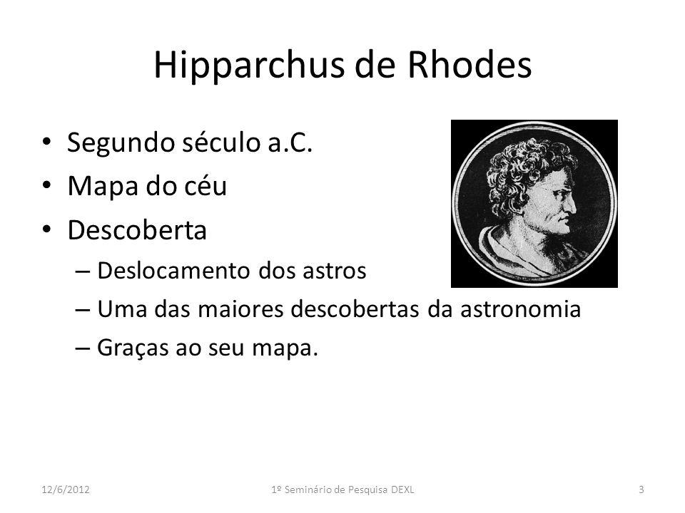 Hipparchus de Rhodes Segundo século a.C.