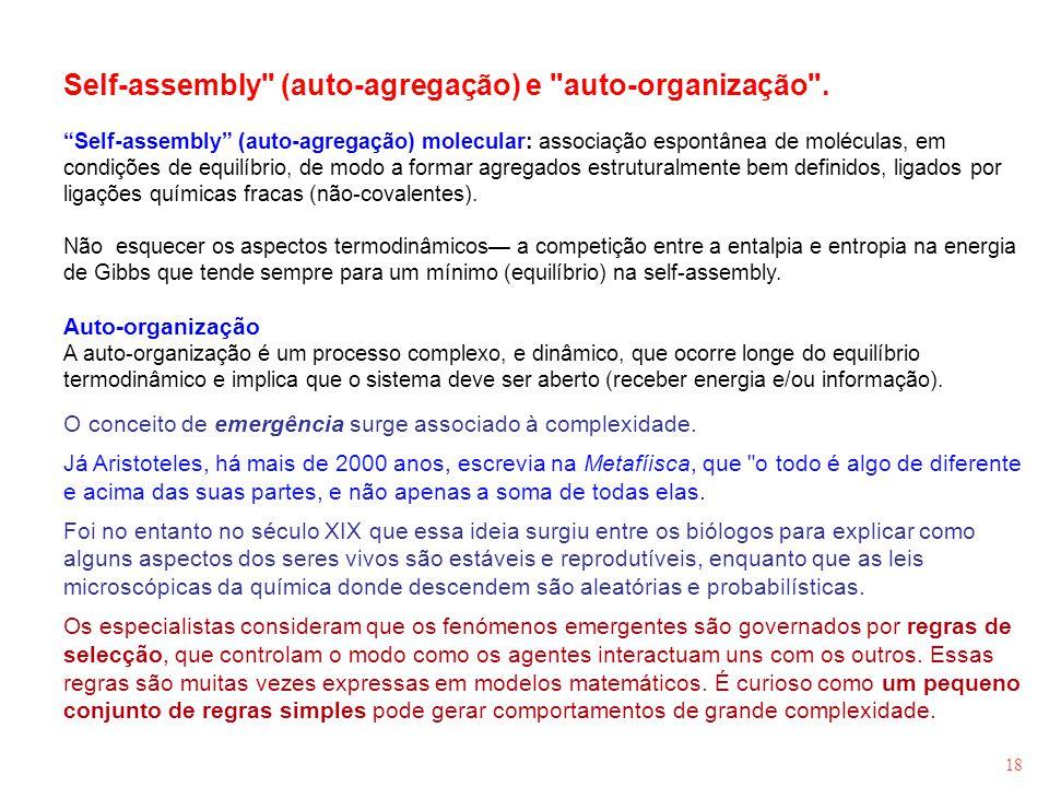 18 Self-assembly