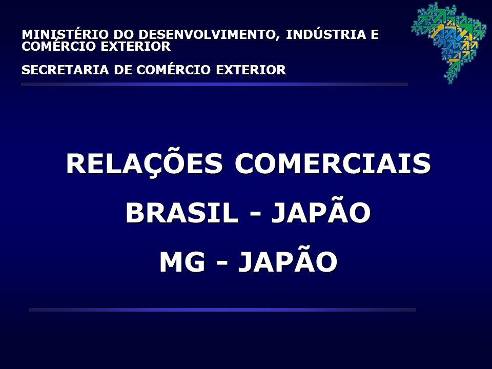 RELAÇÕES COMERCIAIS BRASIL - JAPÃO MG - JAPÃO MINISTÉRIO DO DESENVOLVIMENTO, INDÚSTRIA E COMÉRCIO EXTERIOR SECRETARIA DE COMÉRCIO EXTERIOR