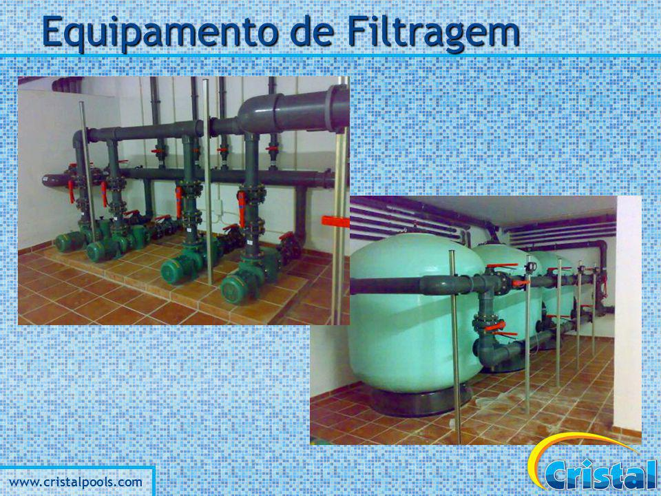 www.cristalpools.com Equipamento de Filtragem