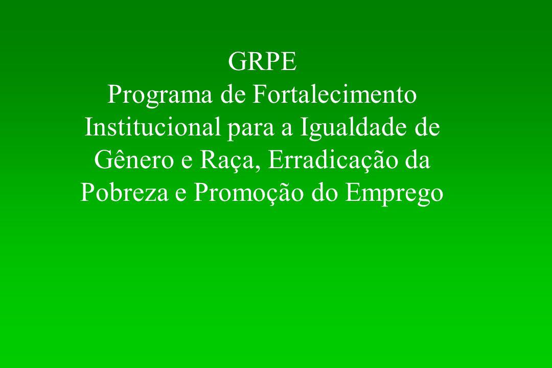 GRPE Programa de Fortalecimento Institucional para a Igualdade de Gênero e Raça, Erradicação da Pobreza e Promoção do Emprego