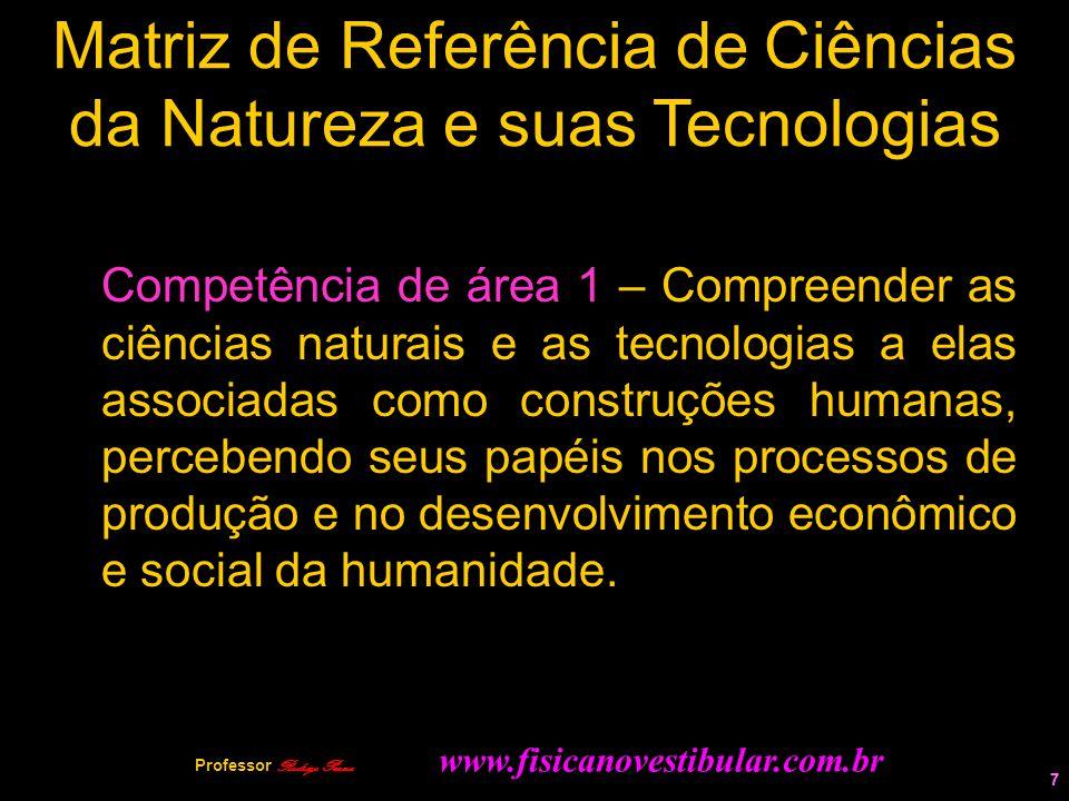 7 Matriz de Referência de Ciências da Natureza e suas Tecnologias Competência de área 1 – Compreender as ciências naturais e as tecnologias a elas ass