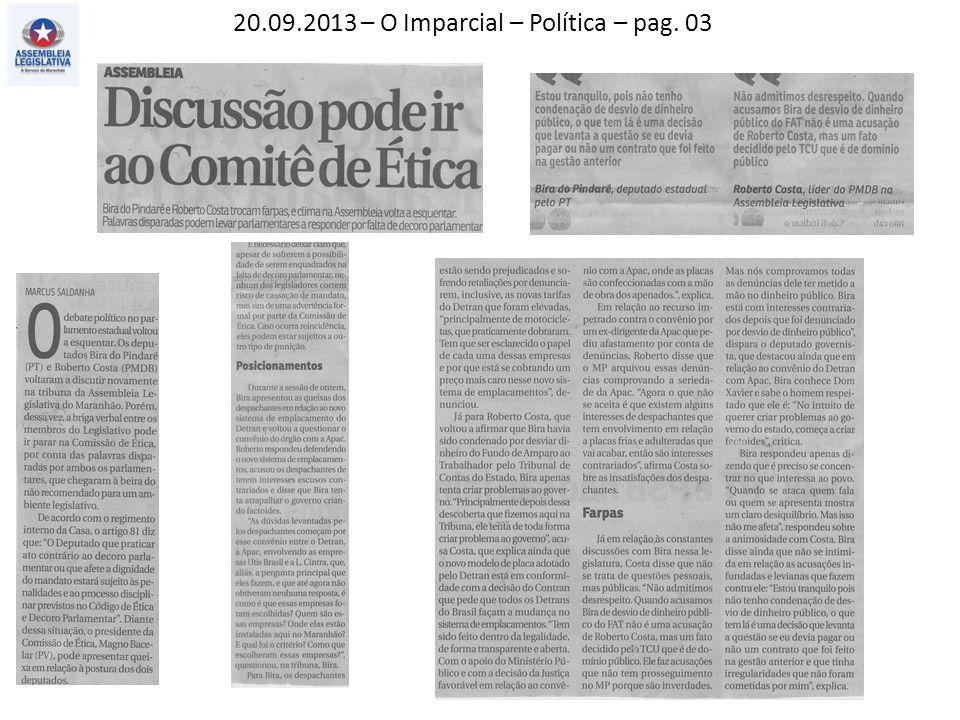 20.09.2013 – O Imparcial – Política – pag. 03