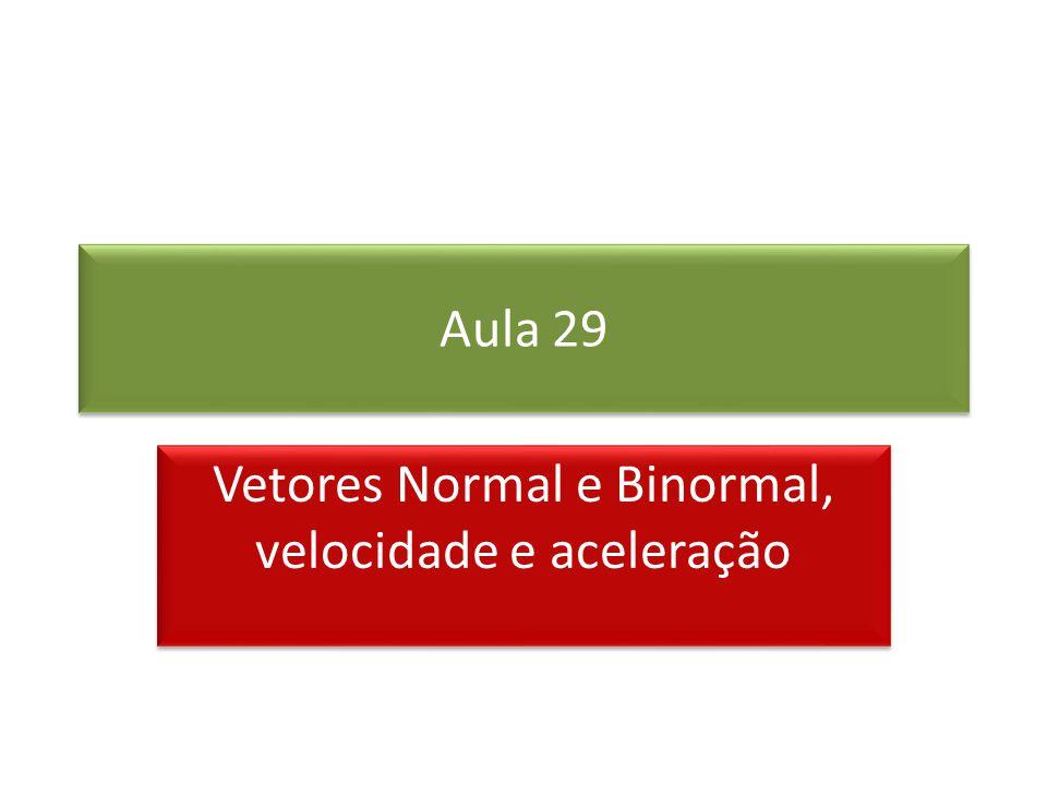 Vetor Normal e Binormal