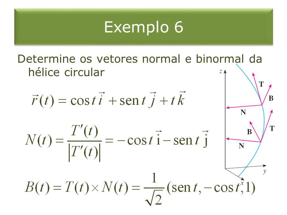 Plano Normal e Osculador O Plano determinado pelos vetores normal e binormal N e B em um ponto P sobre a curva C é chamado plano normal de C em P.