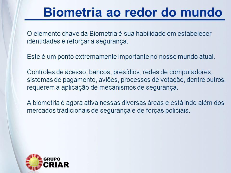 O elemento chave da Biometria é sua habilidade em estabelecer identidades e reforçar a segurança. Este é um ponto extremamente importante no nosso mun