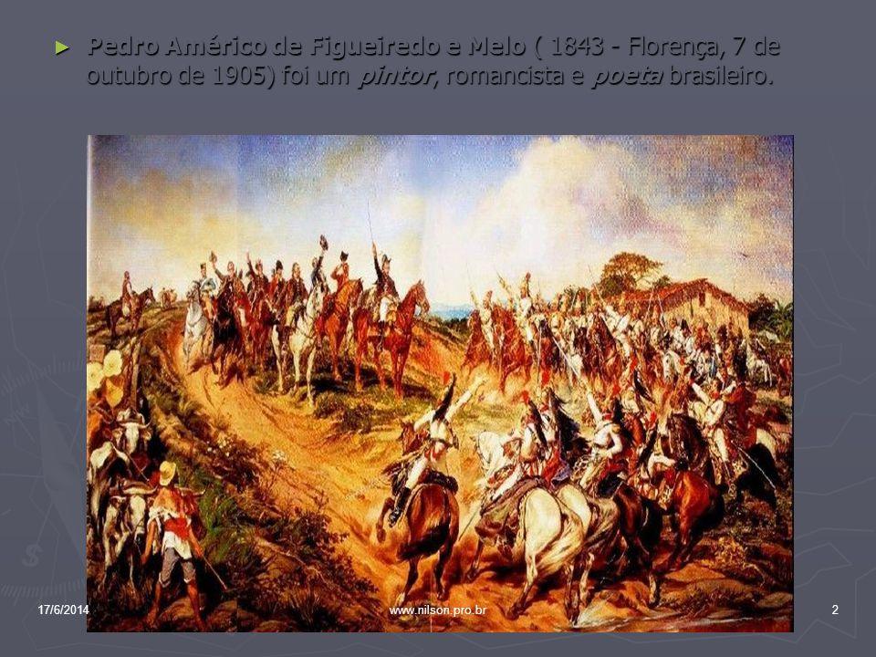 Pedro Américo de Figueiredo e Melo ( 1843 - Florença, 7 de outubro de 1905) foi um pintor, romancista e poeta brasileiro. Pedro Américo de Figueiredo
