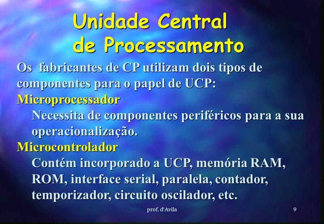 8 Processadores Conceitos Básicos Tem como função, coletar os dados dos cartões de entrada de um CP, efetuar o processamento conforme o programa armaz