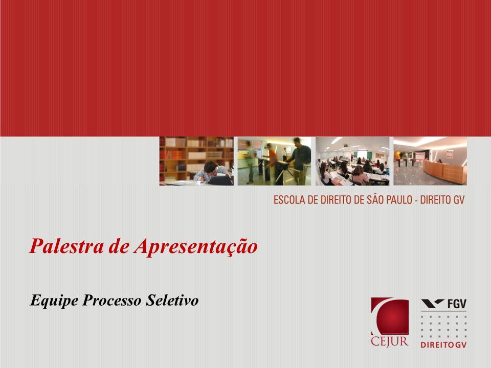 Palestra de Apresentação Equipe Processo Seletivo