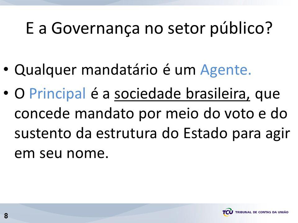 8 Qualquer mandatário é um Agente. O Principal é a sociedade brasileira, que concede mandato por meio do voto e do sustento da estrutura do Estado par