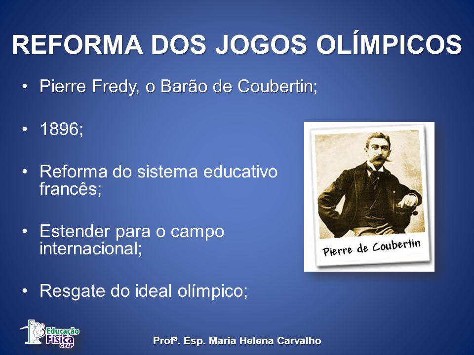 RECRIAÇÃO DO ESPORTE INSTITUCIONALIZADO Séc. XIX Inglaterra Thomas Arnold Profª. Esp. Maria Helena Carvalho