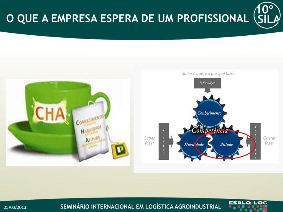 O QUE A EMPRESA ESPERA DE UM PROFISSIONAL 25/03/2013