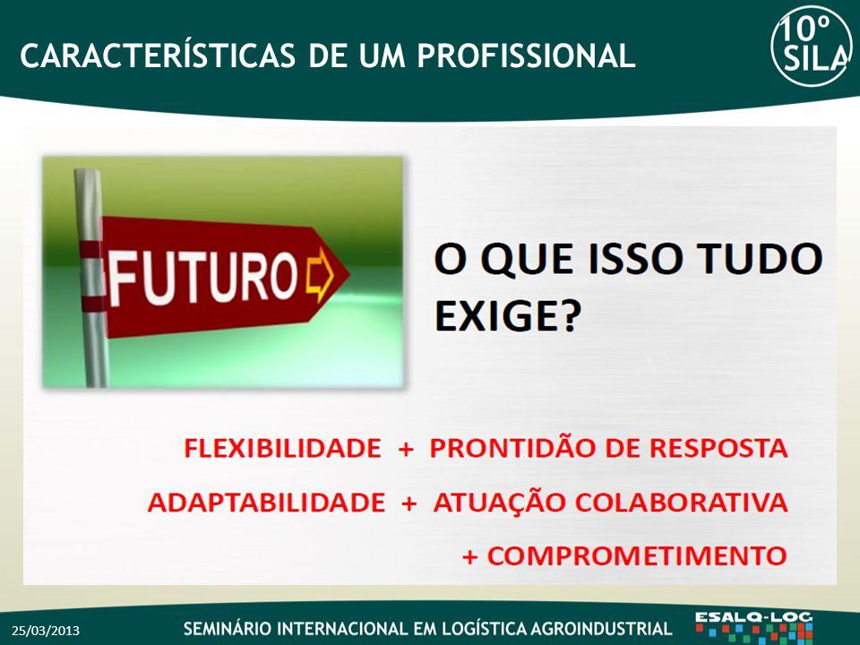 CARACTERÍSTICAS DE UM PROFISSIONAL 25/03/2013