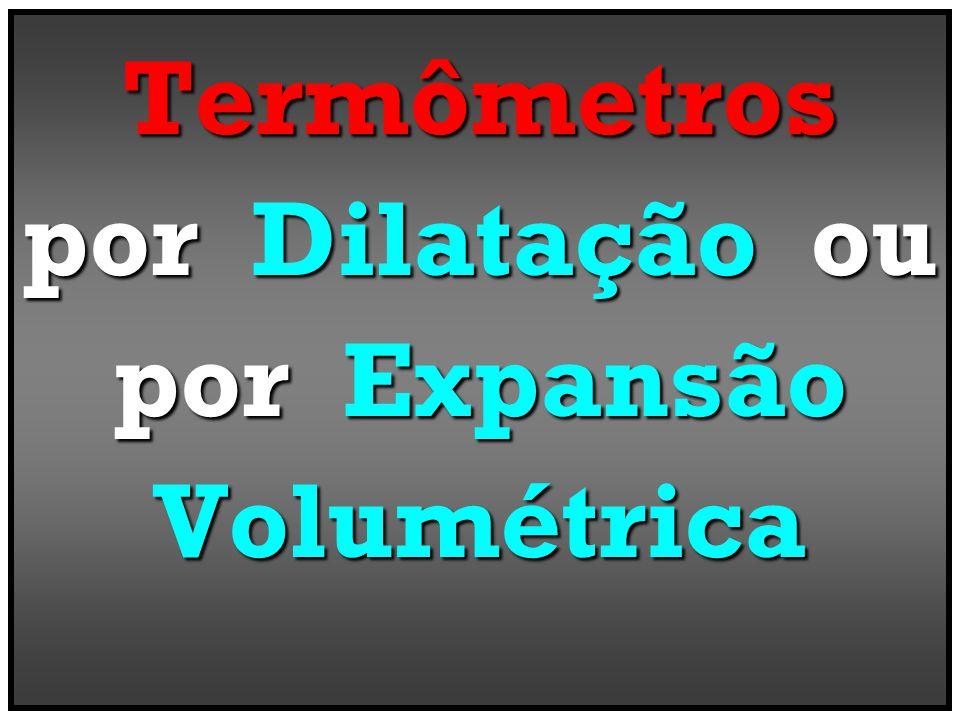 Termômetros por Dilatação ou por Expansão Volumétrica