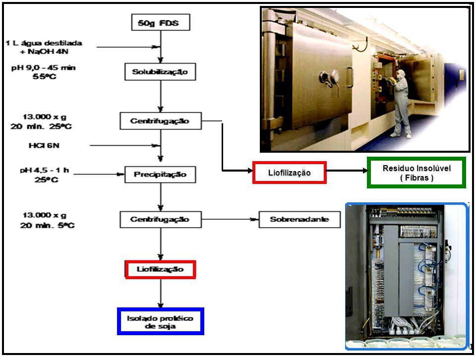 Resíduo Insolúvel ( Fibras ) Liofilização