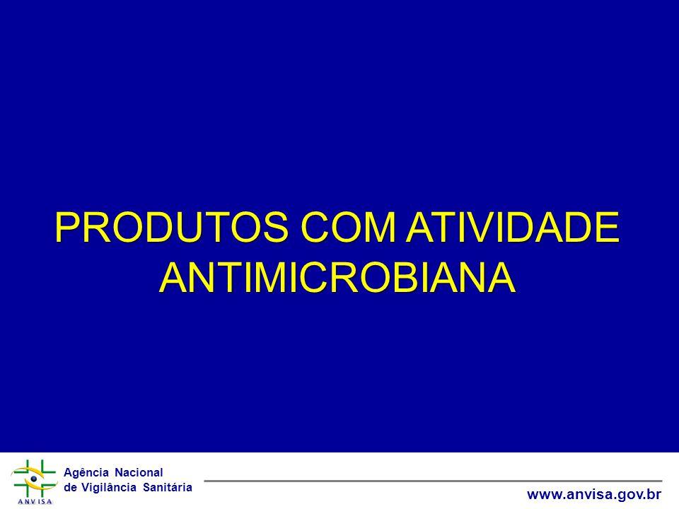 Agência Nacional de Vigilância Sanitária www.anvisa.gov.br PRODUTOS COM ATIVIDADE ANTIMICROBIANA