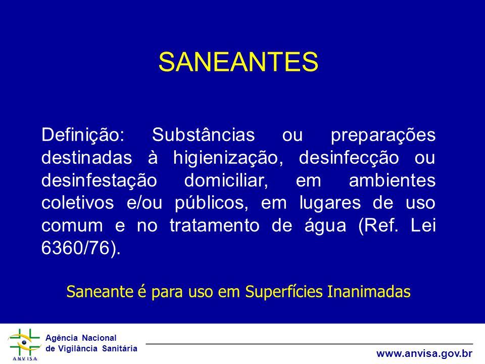 Agência Nacional de Vigilância Sanitária www.anvisa.gov.br Requisitos Básicos para a Escolha Ter equipe de pessoal competente, com formação na área para fazer a indicação do produto.