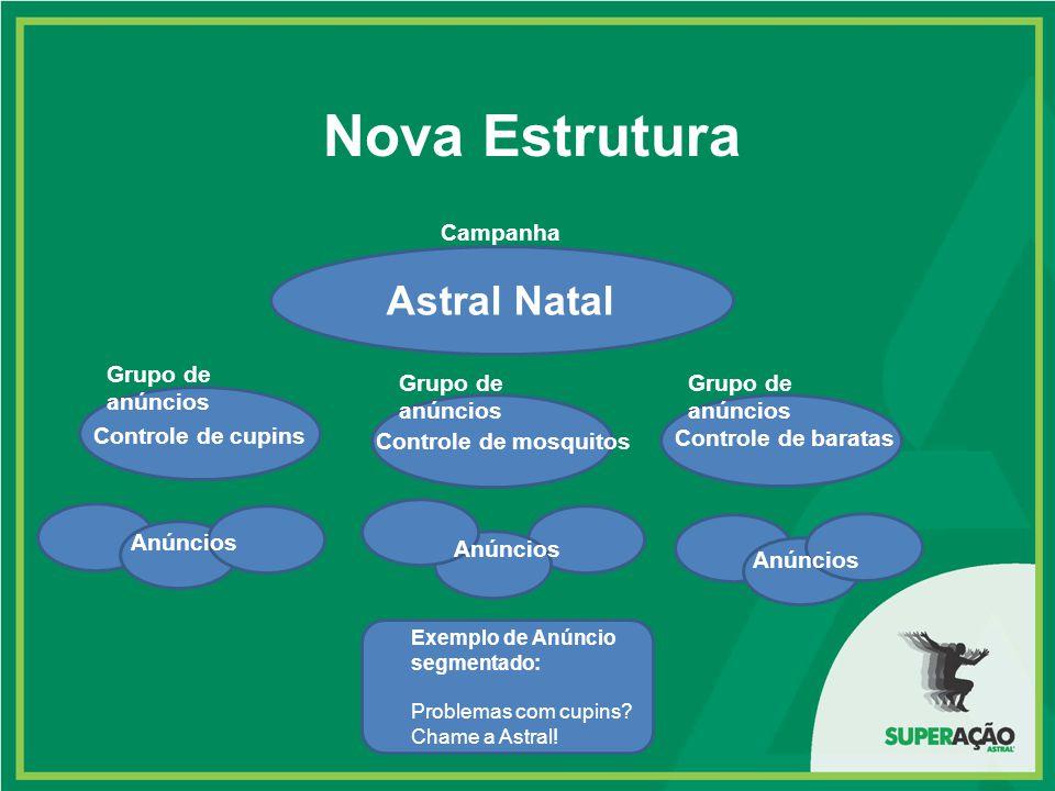 Nova Estrutura Astral Natal Controle de cupins Controle de mosquitos Controle de baratas Anúncios Exemplo de Anúncio segmentado: Problemas com cupins?