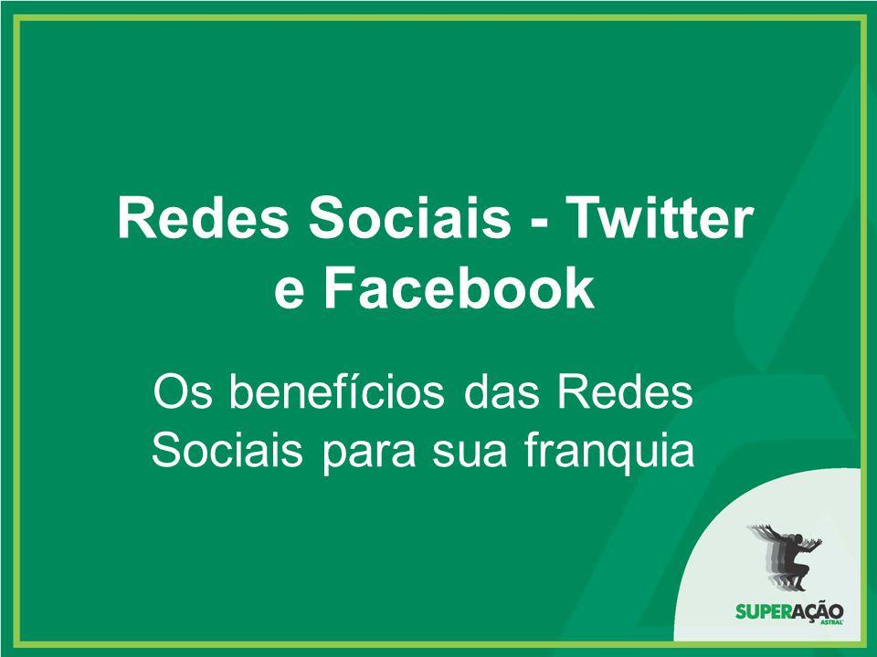 Redes Sociais - Twitter e Facebook Os benefícios das Redes Sociais para sua franquia