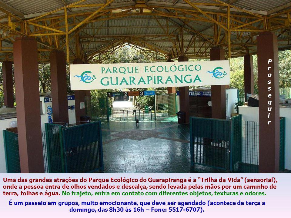O Parque Ecológico do Guarapiranga (estadual) é um lugar belíssimo, muito grande (250,30 hectares), que se constitui em uma proteção contra invasões e