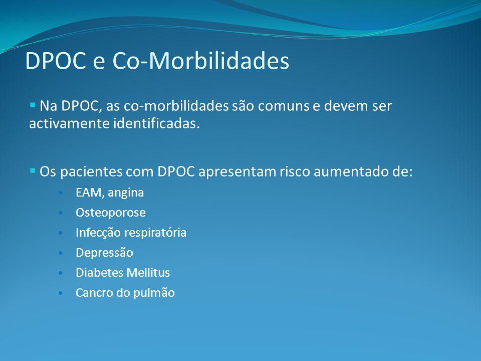 DPOC e Co-Morbilidades Na DPOC, as co-morbilidades são comuns e devem ser activamente identificadas.